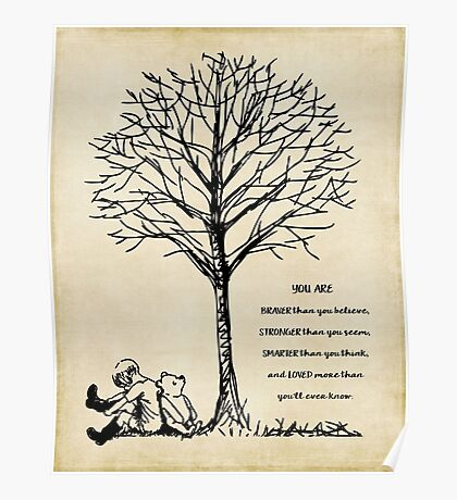 winnie the pooh - you are braver Poster