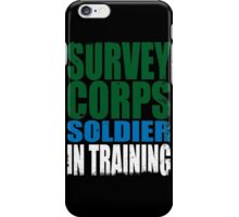 Survey Corps Soldier in Training iPhone Case/Skin