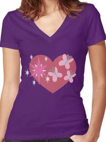 Twishy Women's Fitted V-Neck T-Shirt