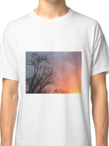 Sunset With Tree Shadow  Classic T-Shirt