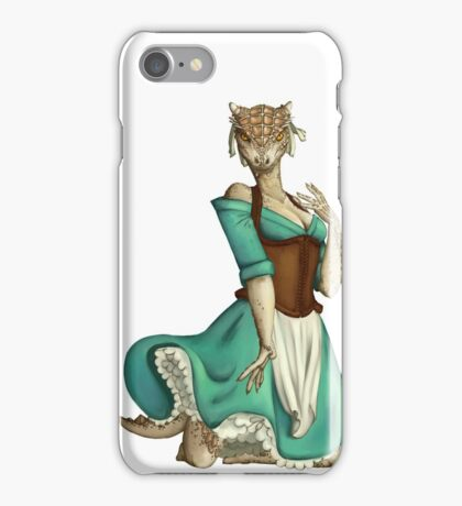 Lusty Argonian Maid Pinup 4 iPhone Case/Skin