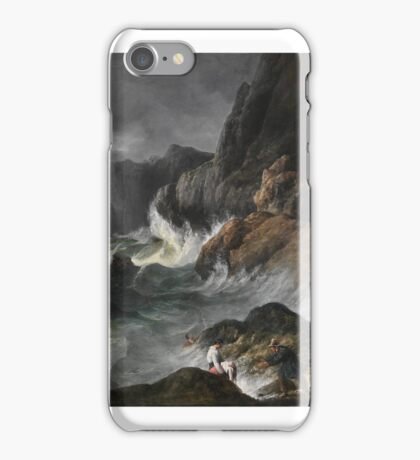 Stormy Coast Scene after a Shipwreck ,  French Painter iPhone Case/Skin