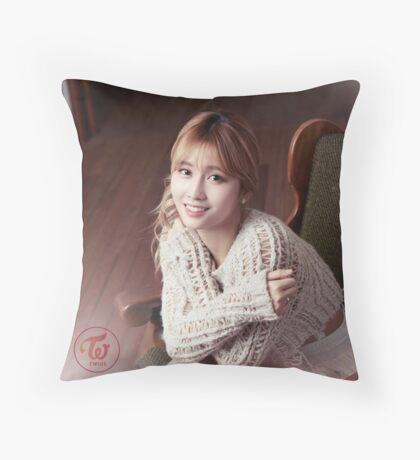 momo twice Throw Pillow