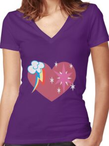Twidash Women's Fitted V-Neck T-Shirt
