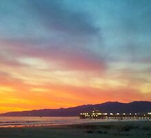 Sunset washing over Santa Monica and Malibu by 2Feathers