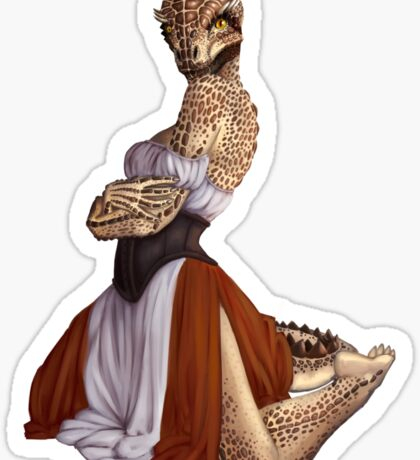 Lusty Argonian Maid Pinup 9 Sticker