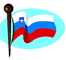 Slovenia Flag by kwg2200