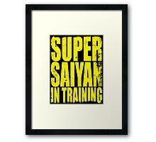Super Saiyan in Training Framed Print