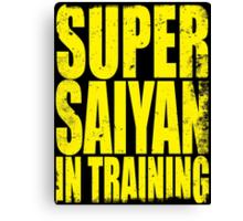 Super Saiyan in Training Canvas Print