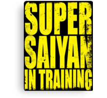 Super Saiyan in Training Canvas Print