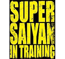 Super Saiyan in Training Photographic Print