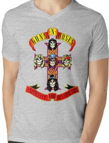 Guns n Roses Mens V-Neck T-Shirt