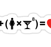 The Love Equation for Women Sticker