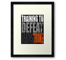 Training to DEFEAT DEATHSTROKE Framed Print