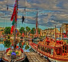 """""""A Festival of Boats"""" Classic Boats by Val  Brackenridge"""