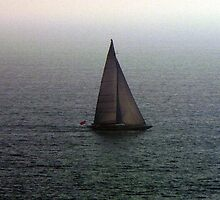 Sailing on a dreary day by 2Feathers