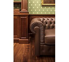 leather sofa in office Photographic Print
