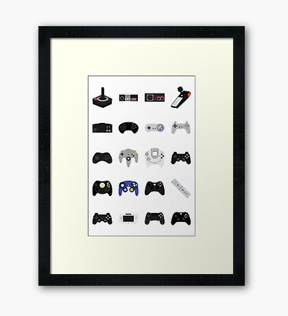 Controllers Framed Print