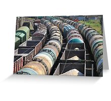 goods by rail Greeting Card