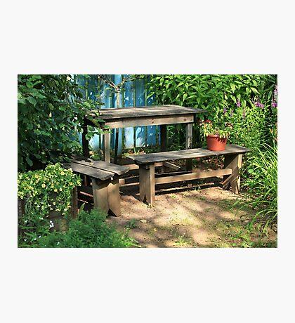garden bench Photographic Print