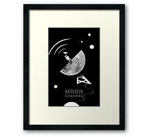 Moon channel Framed Print