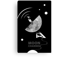 Moon channel Canvas Print