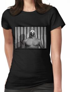 MIL MASCARAS ! Vintage retro wrestling photo 1970's Womens Fitted T-Shirt