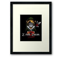 Z for Zelda Framed Print