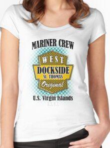 Dock Side St. Thomas USVI Women's Fitted Scoop T-Shirt