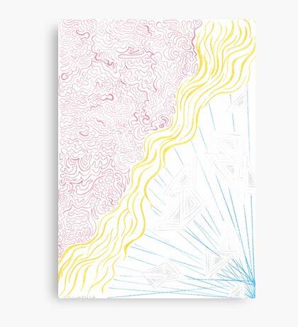 Abstract Powerful Superheroine Canvas Print