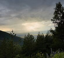 The Sun Sets in the Rila Mountains, Bulgaria by thewaxmuseum