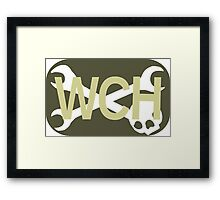 WCH Rectangle Logo Framed Print