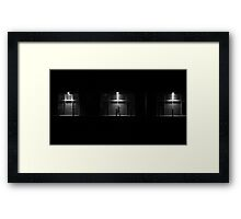 Shadow Walker Framed Print