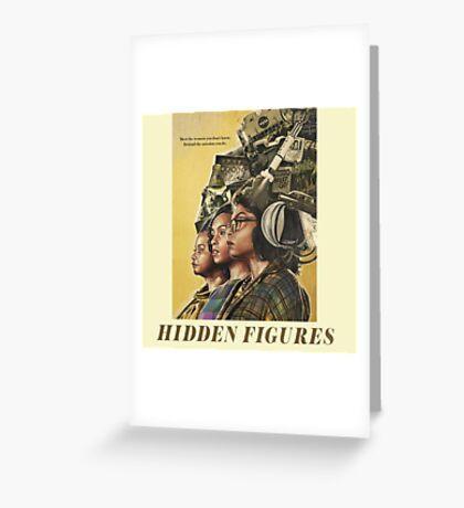 Hidden Figures Characters Greeting Card