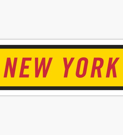 New York Y Sticker