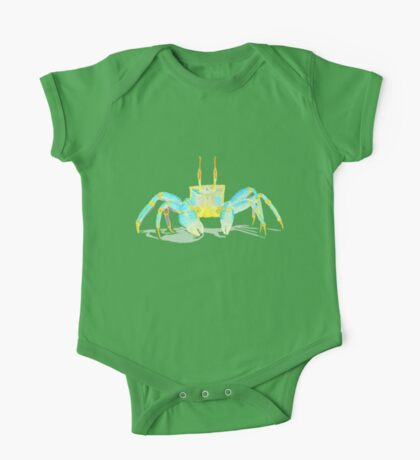 Turquoise Crab One Piece - Short Sleeve