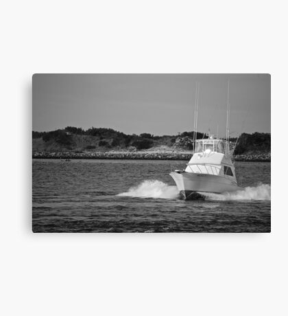 Boat Driving Canvas Print