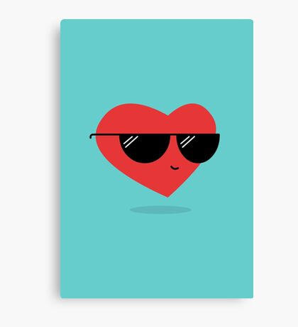 Cool Heart Canvas Print