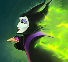 Maleficent - Beautifuly Burning by Randy van der Vlag