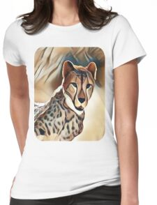 My Creative Design of a Cheetah Womens Fitted T-Shirt