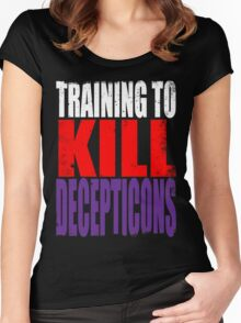 Training to KILL DECEPTICONS Women's Fitted Scoop T-Shirt