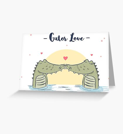 Gator Love Greeting Card