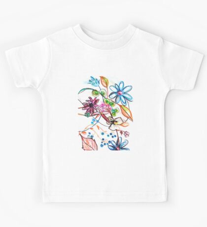 Flower Design Kids Tee