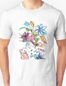 Flower Design Unisex T-Shirt