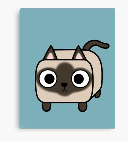 Cat Loaf - Siamese Kitty with Crossed Eyes Canvas Print