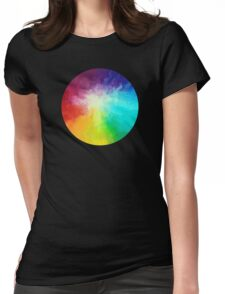 Cloud Burst Womens Fitted T-Shirt
