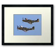 "Maurice Hammond's P-51D Mustangs ""Marinell"" & ""Janie"" Framed Print"