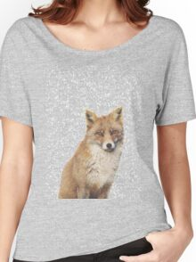 Arctic Snow Red Fox Women's Relaxed Fit T-Shirt