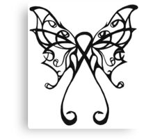 cancer butterfly Canvas Print