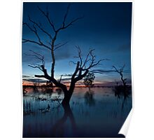 Sunset on the Lake - Menindee, NSW Poster